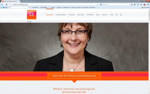 Screenshot von der neuen EK-Website